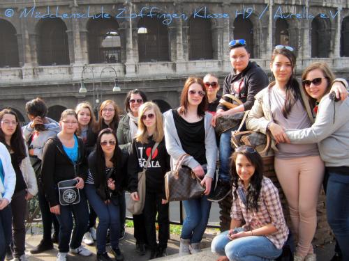 Klassen H9 in Rom © Mädchenschule Zoffingen Klasse H9 / Aurelia e.V.