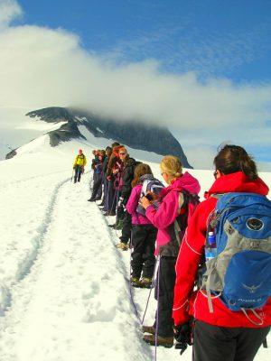 Schul-Expediotion auf den Gletscher - Klassenfahrt Norwegen