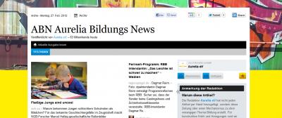 Online Zeitung ABN Aurelia Bildungs News