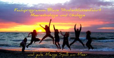 Schüler am Meer, Strand, Sonnenuntergang