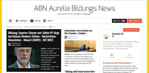 Online Zeitung ABN von Aurelia e.V.