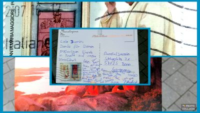 Postkarte der Schüler von der Klassenfahrt Sardinien Italien. . Erfahrung mit Aurelia e.V. Klassenfahrten Fachprogramm Biologie
