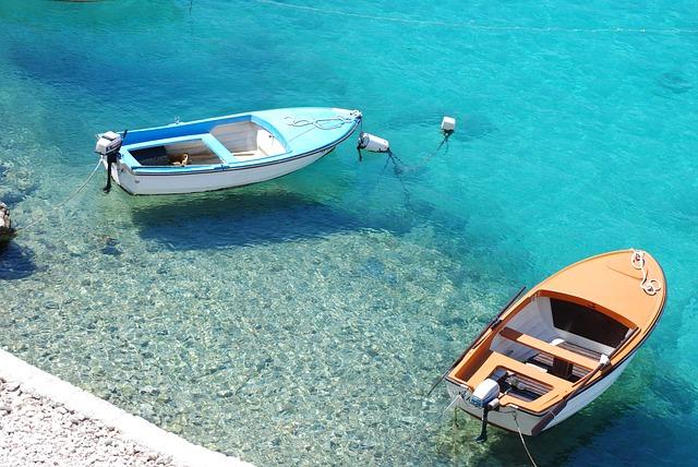 Hervorragende Wasserqualität des Mittelmeers vor Kroatien - Istrien.