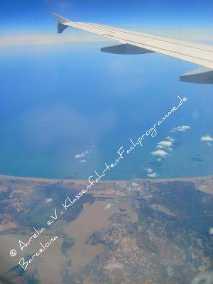 Anflug Costa Brava