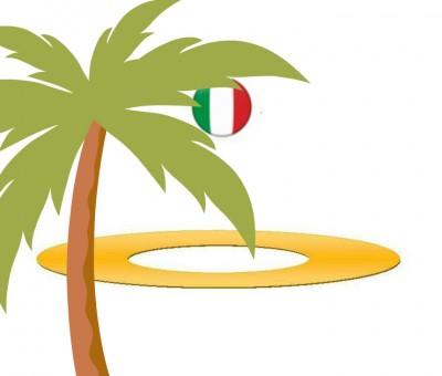 Logi Aurelia e.V. mit italienischer Flagge und Palme