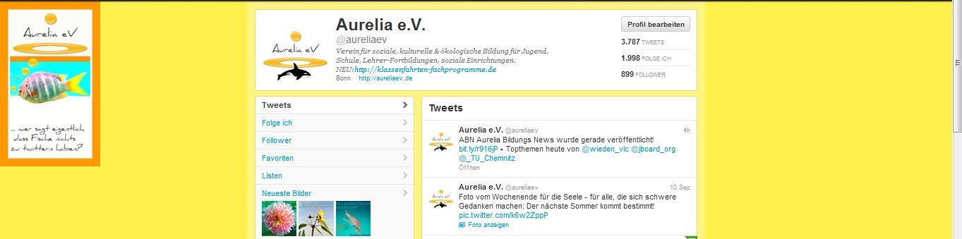 Folgen Sie Aurelia e.V. auf Twitter!