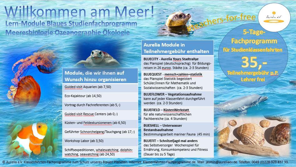 Willkommen am Meer - Lernmodule für Klassenfahrten mit naturwissenschaftlicher Ausrichtung.