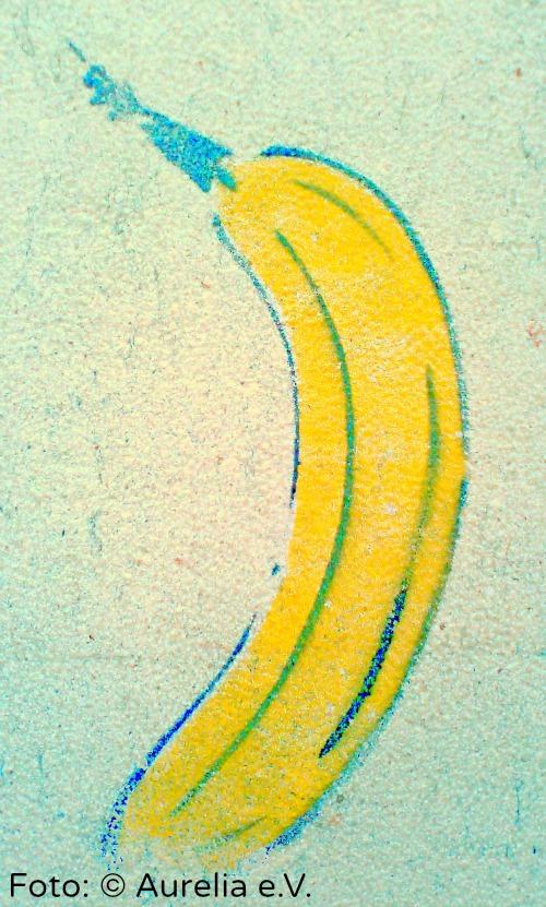 Kunst - gesprühre Banane