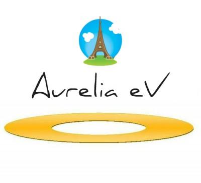 Aurelia e.V. Logo mit Eiffelturm.