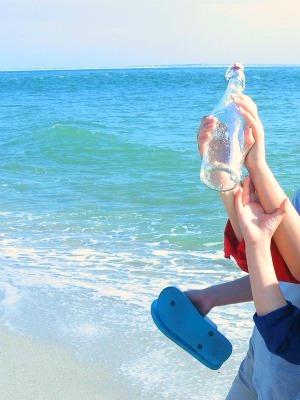 Flaschenpost an der Nordsee gefunden.
