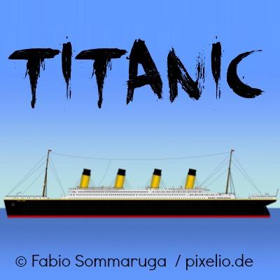 Das ehemalige Passagierschiff Titanic in Nachbildung