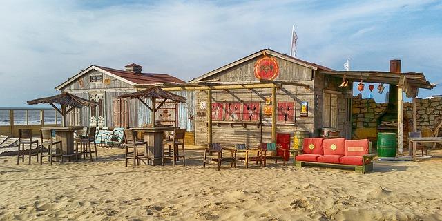 Strandhütten an der Nordsee