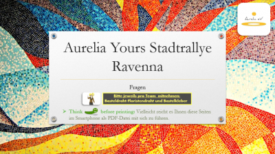BLUECITY Aurelia Stadtrallye Ravenna/ Italien