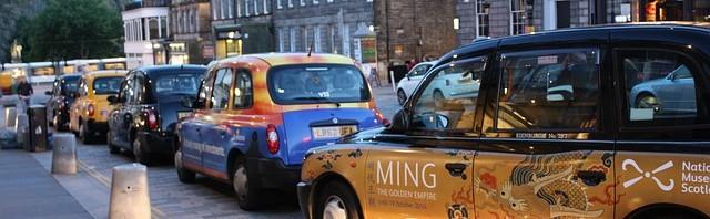 Taxi Edinburg / Schottland