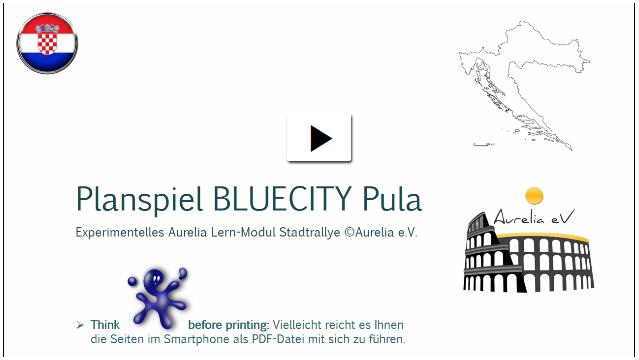 Teaser der Stadtpallye Pula,- das beliebte Wissensspiel für Klassenfahrten Kroatien