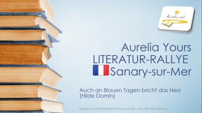 Die Aurelia Yours Literatur Rallye für Sanary-sur-Mer für Klassenfahrt Südfrankreich