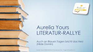 Aurelia Yours LITERATUR-RALLYE Sanary-sur-Mer