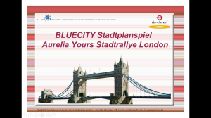 BLUECITIY Stadtrallye London - England