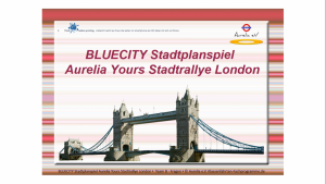 BLUECITIY Stadtrallye London - England -