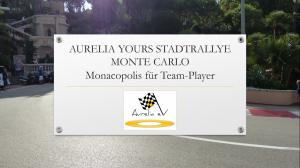 BLUECITY Stadtrallye Monte Carlo - MonacoKlassenfahrten Programm.Modul Aurelia e.V.