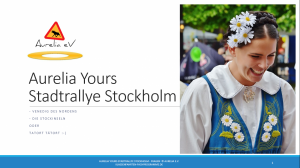 BLUECITY Stadtrallye Stockholm - Schweden
