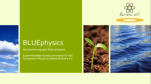 BLUEPHYSICS - Experimentelles Physik-Lernmodul