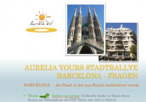 Stadtrallye Barcelona Spanien